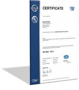 QM-Certificate ISO 9001 : 2015
